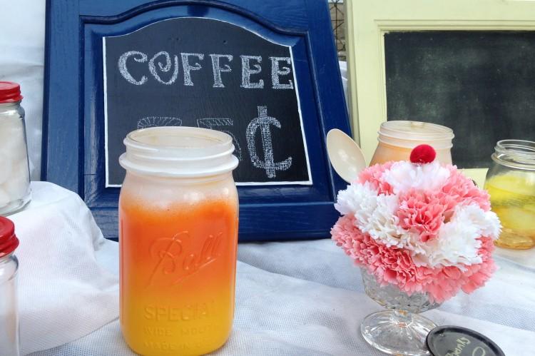 mason jar, flower sundae,